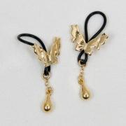 bijoux seins papillons d'or