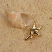 Bijou Nombril étoile de mer col or