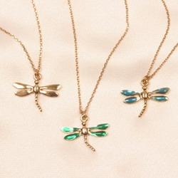 cheville bijou libellule or bleu ete