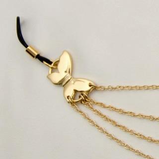 chaines seins drapé papillons d'or