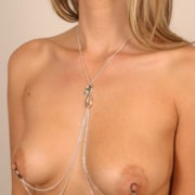 body-jewelry-nipples-snake-silver-chains