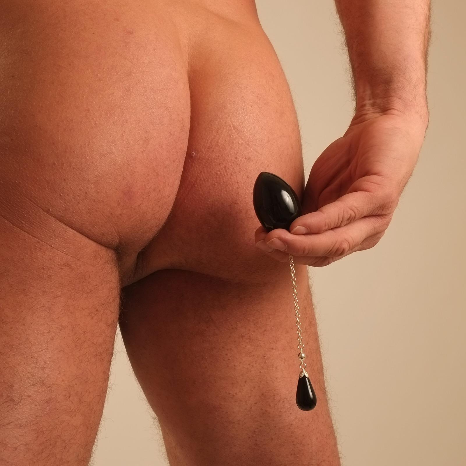 Ei-anal-mann-juwel-sexuell-schwarz-silber