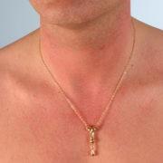 Pendentif Pénis col or avec chaine
