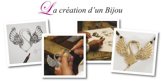 la création d'un bijou Sylvie Monthulé