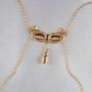 Venitian mask breasts necklace gold