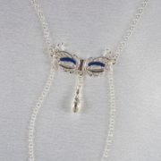 Venitian mask breasts necklace silver