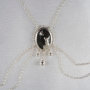Cameo moonlight breasts necklace silver