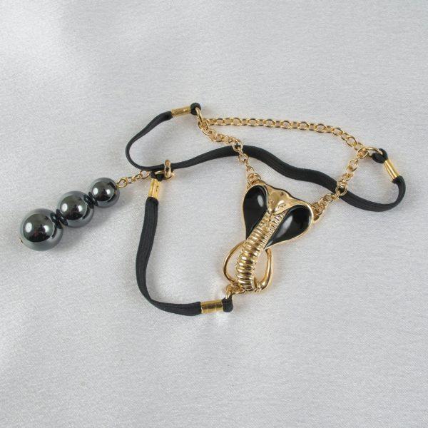 schmuck-geschlecht-hoden kobra-gold-schwarz