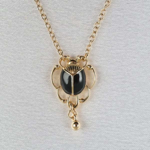 pendentif-femme-scarabee-or-chaine